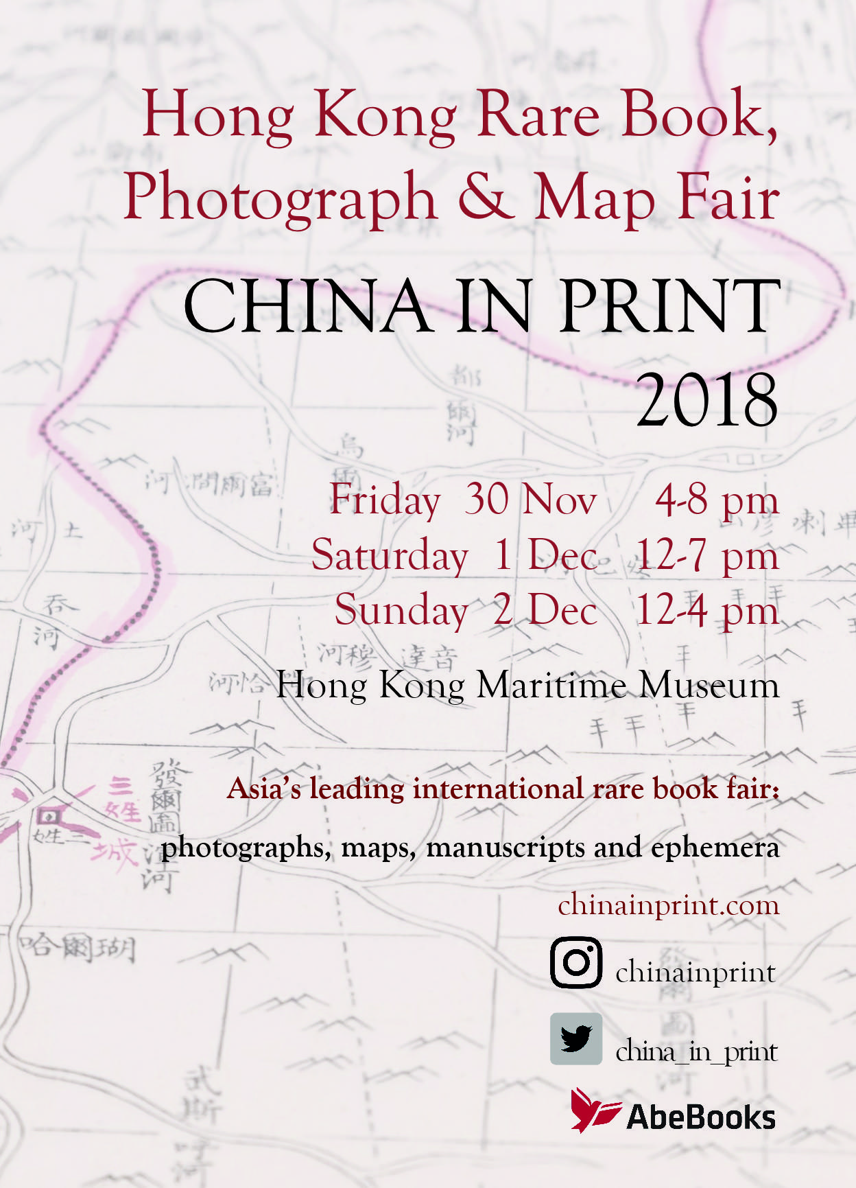 China in Print 2018: Hong Kong Rare Book, Photograph and Map Fair