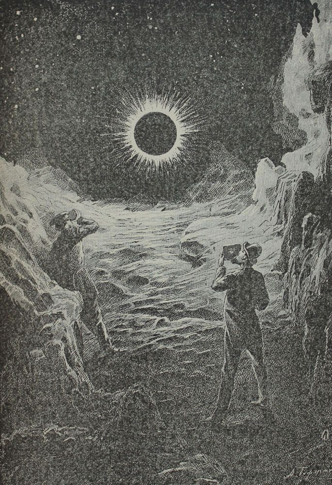[MOON LANDING IN 1893] Na lune. Fantasticheskaya povest' [i.e. On the Moon. Fantastic Tale] / with original drawings by Gofman. K. Tsiolkovsky.