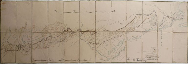[OTTOMAN - IRANIAN BORDER] [Large Folding Lithographed Map, Titled:] Map of the Ottoman-Iranian border [Compiled] by the Special Border Commission. 1325 R.