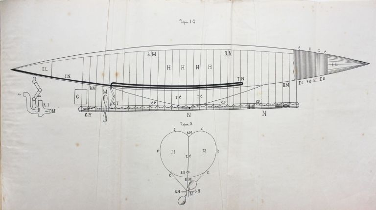 [SPACESHIP DESIGNED AND CALCULATED IN 19th CENTURY]. K. E. Tsiolkovsky.