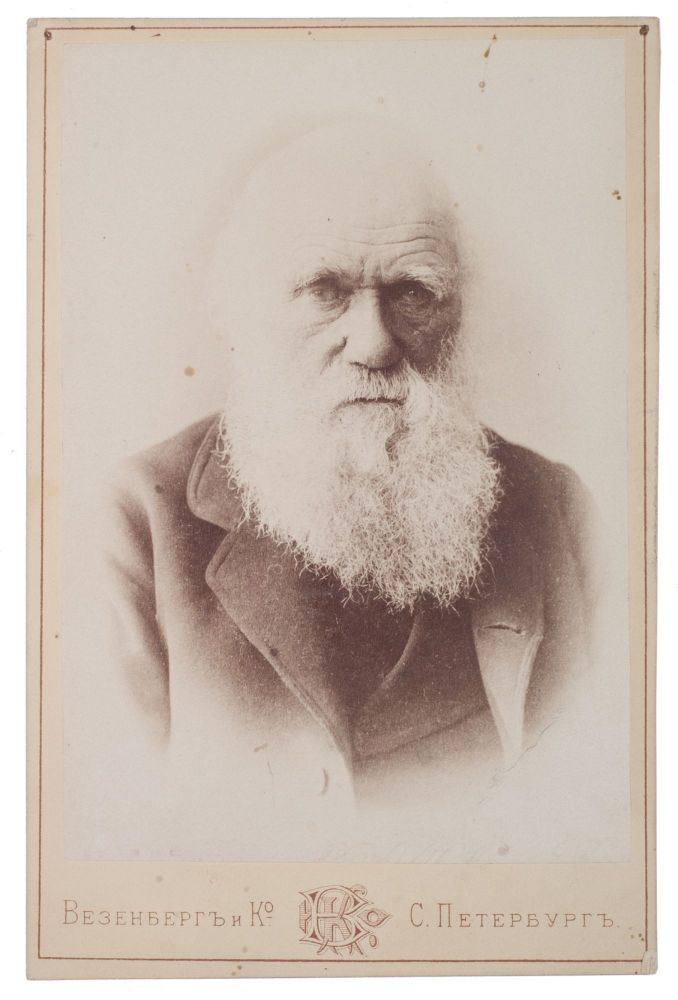 [FOR THE RUSSIAN DARWINISTS] Photograph of Charles Darwin