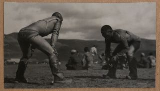 [ASIA - MONGOLIA] [Album with ca. 150 Original Gelatin Silver Snapshot Photographs of Ulaanbaatar during the Early Years of Socialistic Mongolia, Showing the Sükhbaatar Square, the Chinese Quarter, Bogd Khan's Winter Palace, Buddhist Temples, Zakhadyr Market, Scenes from the Naadam Festival, Mongolian Wrestling, Costumes, Hairdos, Yurts and Houses, etc.]