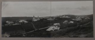[ASIA - SAKHALIN] [Historically Important Album with 108 Original Gelatin Silver Photographs of Sakhalin (Pre-Russo-Japanese War), Showing Tsarist Prisons, Executioners and Prisoners, Post Alexandrovsky, Post Korsakovsky, Villages and Settlements in Northern and Southern Sakhalin, Early Oil Enterprises, Japanese Fishing Boats and Fisheries, Japanese Consulate, Nivkh, Ainu, Tungus and Orok People, etc.]