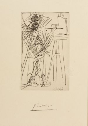 [PICASSO AND ILIAZD COLLABORATION] Pirosmanachvili 1914. Pablo Picasso Pointe Seche
