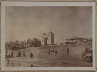 [RUSSIAN CHINESE BORDER TOWN - BLAGOVESHCHENSK] [Album of Ninety-Six Original Gelatin Silver Photographs of Blagoveshchensk on the Amur River, Showing Major Trading Houses and Shops on the Bolshaya Street, Girls' School, Cathedrals and Churches (Demolished in Soviet Time), the Triumphal Arch, Customs House and Steamers on the Amur River, Chinese Villages on the Other Bank, Chinese workers, Russian Peasants, and Others]