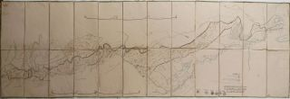OTTOMAN - IRANIAN BORDER] [Large Folding Lithographed Map, Titled:] Map of the Ottoman-Iranian...