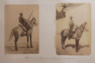 AFRICA - ALGERIA - TLEMCEN] [Album with 124 Original Albumen Photographs, Taken by a Cavalry man...