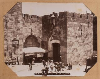 MIDDLE EAST – ISRAEL, PALESTINE (HOLY LAND)] [Album with 50 Large Original Albumen Photographs...