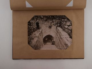 [MIDDLE EAST – ISRAEL, PALESTINE (HOLY LAND)] [Album with 50 Large Original Albumen Photographs Showing Religious Sites and Views of Jerusalem, Bethlehem, and Jaffa]