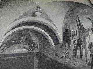 [SOVIET MURALS] Tekhnika stennykh rospisei [i.e. The Technique of Murals].
