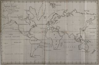 [RUSSIAN CIRCUMNAVIGATION: AMERICA - AUSTRALIA - PACIFIC] Plavaniye Vokrug Sveta na Shlyupe Ladoge v 1822, 1823 i 1824 godakh. Shlyupom Nachalstvoval Kapitan-Leytenant Andrey Lazarev, Nyne Kapitan I-go Ranga, Yego Imperatorskogo Velichestva Fligel-Adyutant. Izdano po Vysochaishemu Poveleniyu [i.e. Voyage Around the World on Sloop Ladoga in 1822, 1823 and 1824. The Sloop was Commanded by Captain-Lieutenant Andrey Lazarev, Now Captain of the 1st Rank and Aide-de-camp of His Imperial Majesty. Published on the Highest Order].