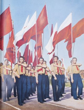 [PHOTOMONTAGES ON SOCIALIST YOUTH OF POLAND] Narodnaia Pol'sha i ee molod'ezh' [i.e. People's Poland and its Youth]